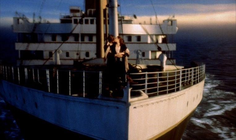 Een beeld uit de film Titanic.