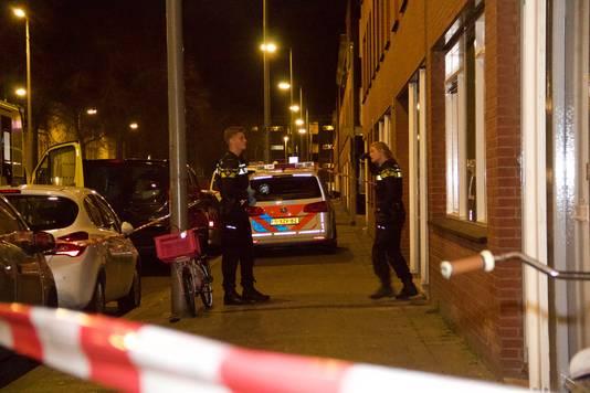 De plek in Rotterdam waar de aanval plaats had.
