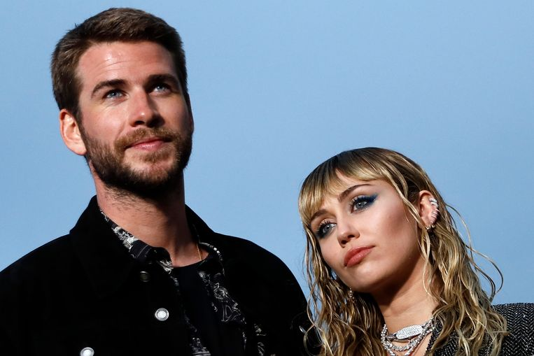 Liam Hemsworth en Miley Cyrus