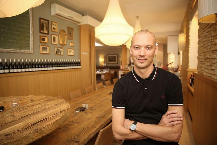 Andy De Brouwer in zijn restaurant Les Eleveurs.