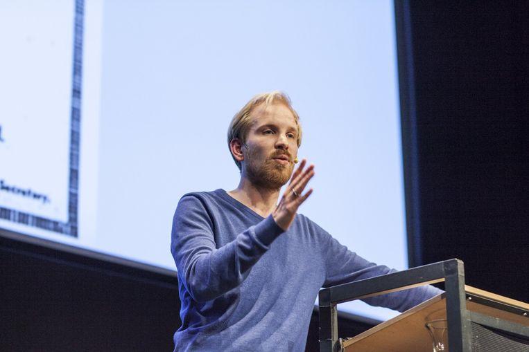 'Het is onzin om te concluderen dat het Finse experiment met het basisinkomen is mislukt. Dat is het namelijk niet', aldus Rutger Bregman. Beeld Harry Cock/de Volkskrant