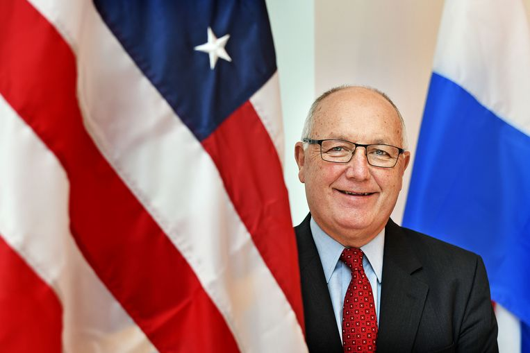 De Amerikaanse ambassadeur in Nederland, Pete Hoekstra. Beeld Guus Dubbelman / de Volkskrant