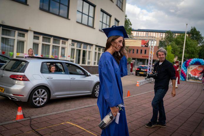 Stopplaats in de 'diploscoop' van het Candea College in Duiven.