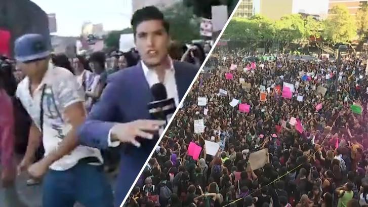 Mexicaanse presentator bewusteloos geslagen tijdens live uitzending