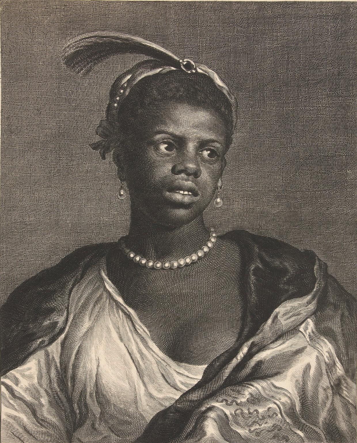 Cornelis van Dalen II (naar Govert Flinck), Tronie van een vrouw met parelketting, ca. 1660. Amsterdam, Rijksmuseum. Beeld Rijksmuseum