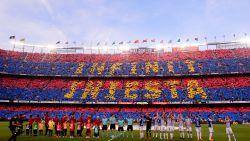 Camp Nou neemt op heerlijke wijze afscheid van Andrés Iniesta: Spanjaard wint laatste partij met Barça dankzij schitterende goal Coutinho