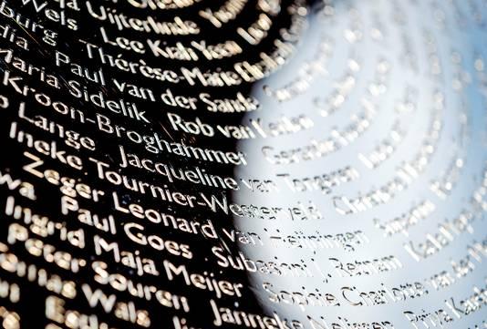 De namen van de slachtoffers zijn in het oog gegraveerd.
