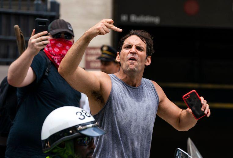 Recht-extremistische betoger.