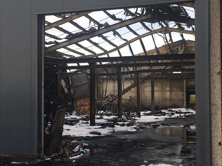 De brand verwoestte zo goed als de hele inboedel.