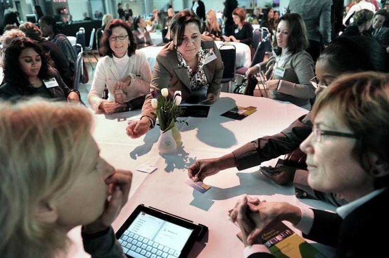 Vrouwen op The Women's Conference in Amsterdam. Beeld Marcel van den Bergh / de Volkskrant