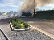 L'incendie d'une remorque mobilise 17 pompiers en région verviétoise