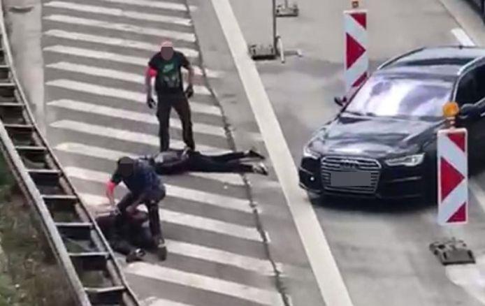 Arrestation sur la bande d'arrêt d'urgence du Ring d'Anvers