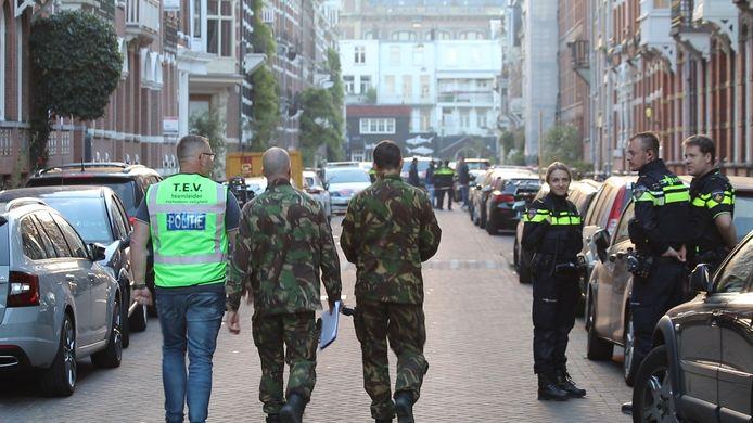 De Explosieven Opruimingsdienst kwam ter plaatse voor onderzoek