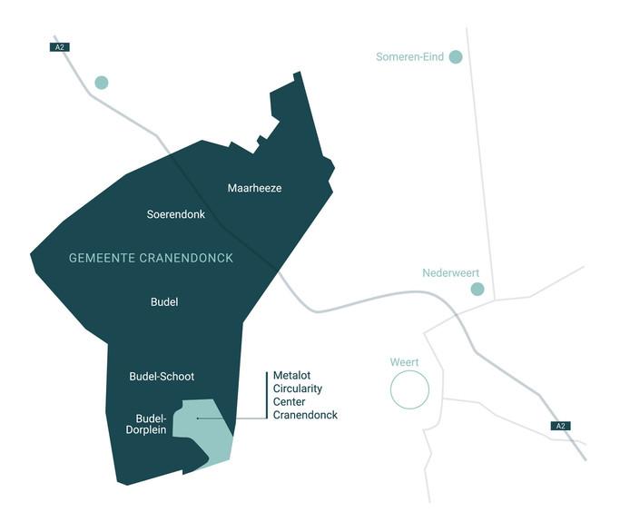 Ligging van Metalot in de gemeente Cranendonck