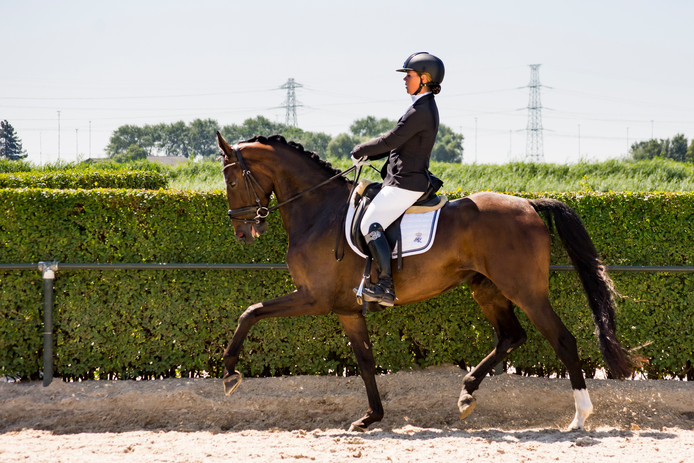 Wilma Salm op paard Isa