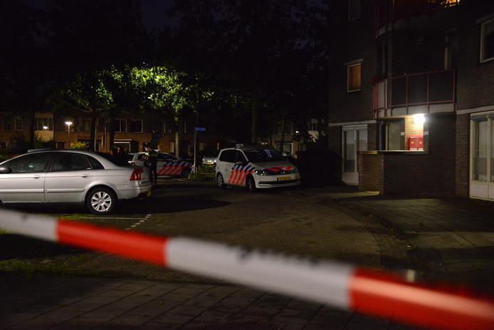 Twee schietpartijen in Etten-Leur. Gebied afgezet door politie voor sporenonderzoek.