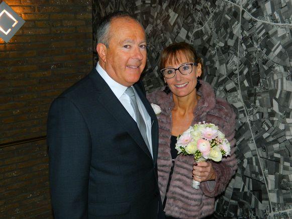 Sabine Van Wonterghem met haar kersverse echtgenoot Peter Vermeulen.