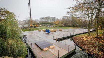 Opbouw Winter in het Park gestart