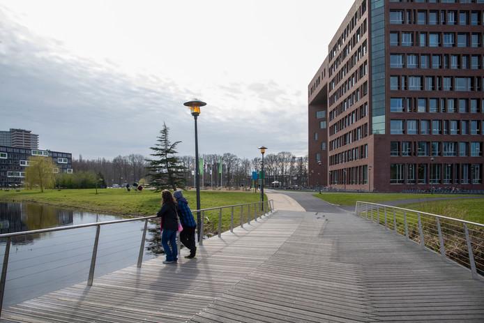 De campus van de WUR in Wageningen.