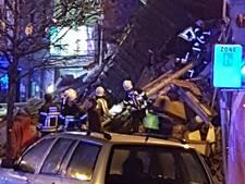 Zeven mensen levend onder ingestort gebouw Antwerpen uit gehaald
