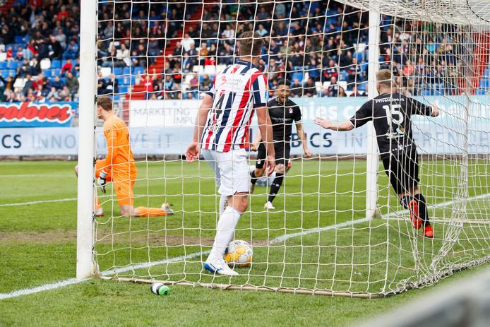 Uitgerekend Goirlenaar Michael de Leeuw scoorde de 2-3.