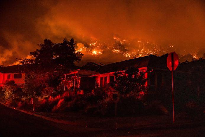"""Volgens VN-topman Antonio Guterres worden """"apocalyptische"""" branden, zoals hier in Santa Rosa (Californië) in september 2020, het nieuwe normaal."""