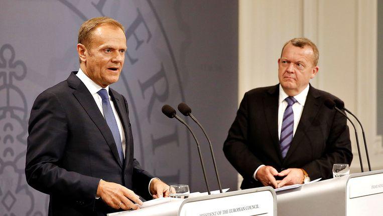 Tusk met Rasmussen.