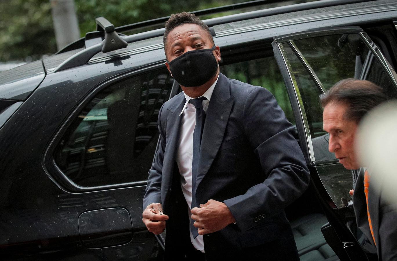 Acteur Cuba Gooding Jr. arriveert bij de rechtbank in New York.