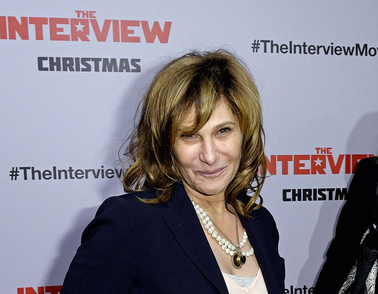 Sony-topvrouw Amy Pascal. Beeld reuters
