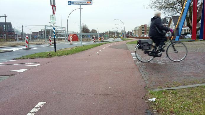 Vrijliggende fietspaden in Wijchen krijgen geen rode asfaltlaag meer