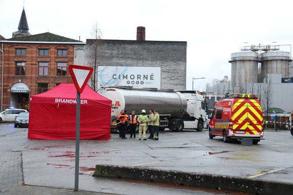 Het ongeval gebeurde op de parking aan de Cimorné en Tereos fabriek.