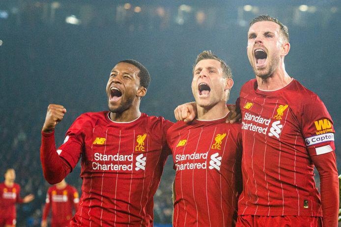 Wijnaldum, Milner en Henderson.