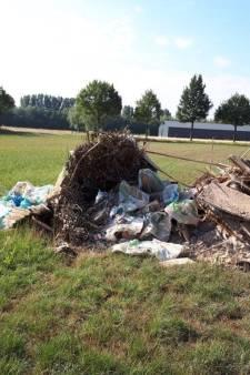 Grote hoeveelheid bouwafval gedumpt in Zelhem