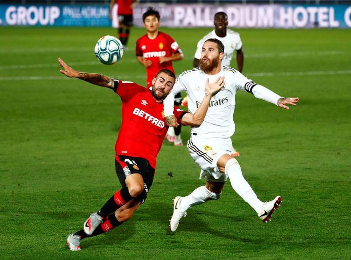 Sergio Ramos in actie tegen Real Mallorca vorige week.