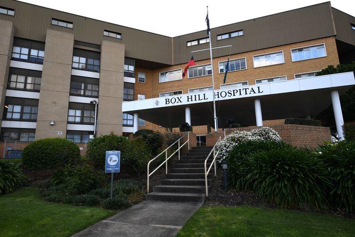 Het Box Hill Hospital in Melbourne, Victoria. De exacte plaats van het voorval met de testapparatuur is niet bekend.