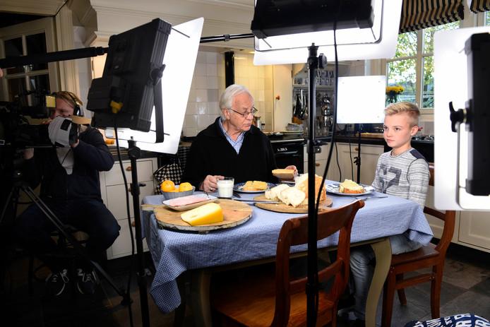 Rick de Vries (12) èn Bram van der Vlugt (links) in de hoofdrollen