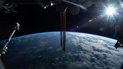 Belgische kunst van ruimtestation ISS op weg naar huis