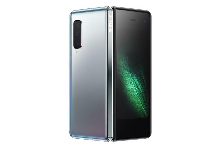 Samsung Galaxy Fold met het scharnier aan de achterkant.