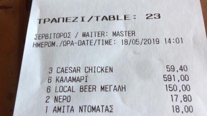 """""""Pure afzetterij"""": restaurant op Mykonos rekent 98,5 euro aan voor bord calamares"""