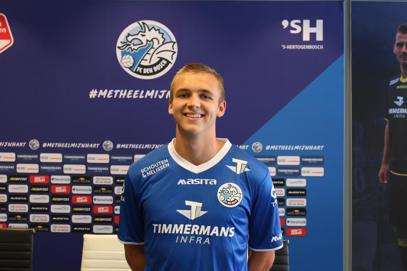 Lars Miedema wordt gepresenteerd