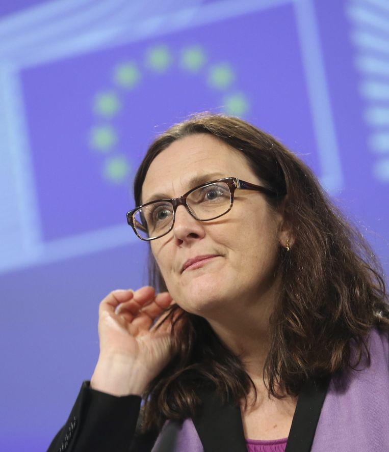 Eurocommissaris Cecilia Malmström. Beeld afp