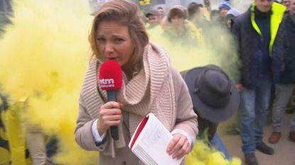 VIDEO. VTM-journaliste belaagd door betogers tijdens Mars tegen Marrakesh