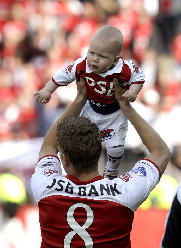Stijn Schaars met zoontje Milan Djano.
