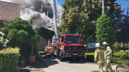 Loods brandt volledig uit: rookpluim tot kilometers ver te zien