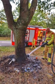 Bermmonumentje in Valkenswaard voor omgekomen man uit Mierlo verwoest door brand