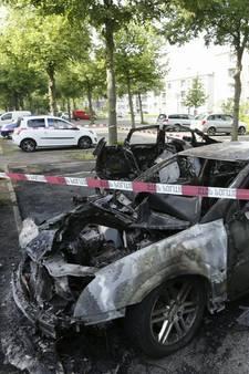 Auto's volledig verwoest na brandstichting in Wielwijk