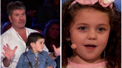 Simon Cowell wil schattig 5-jarig zangeresje koppelen aan zijn zoon, maar die is niet zo onder de indruk