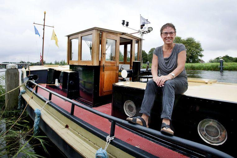 Agnes Vos op de Humus III. Beeld Olaf Kraak