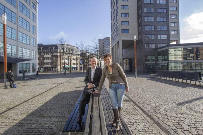 Sander Vrugt van Keulen en Jeannette Vos, organisatoren van de G1000 in Eindhoven. Foto: Jurriaan Balke