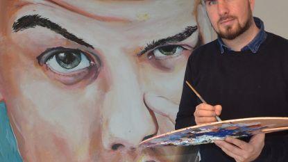 Portret van Stromae levert Halse kunstenaar Ken Huys (32) internationale publieksprijs op